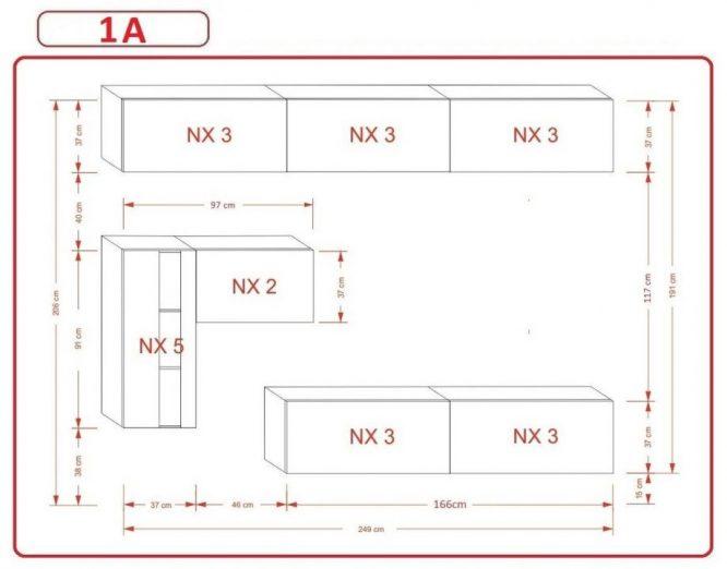 Kedvencbutor.hu AN-81 1A nappali bútor méretek