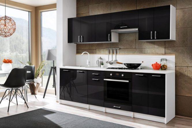 kedvencbútor.hu-bővíthető-modern-blokk-konyhabútor-ecomodel-magasfényű-fekete-240-cm