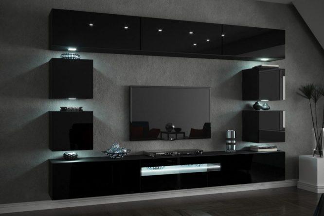 kedvencbutor.hu-concept 81 magasfényű fekete kisebb