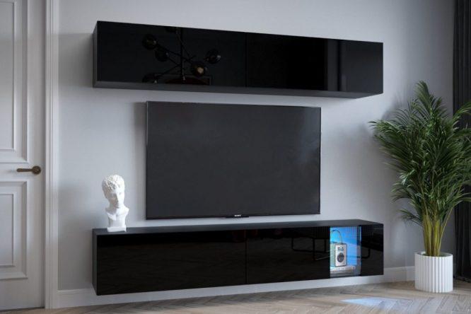 kedvencbutor.hu-exclusive 4 magasfényű fekete