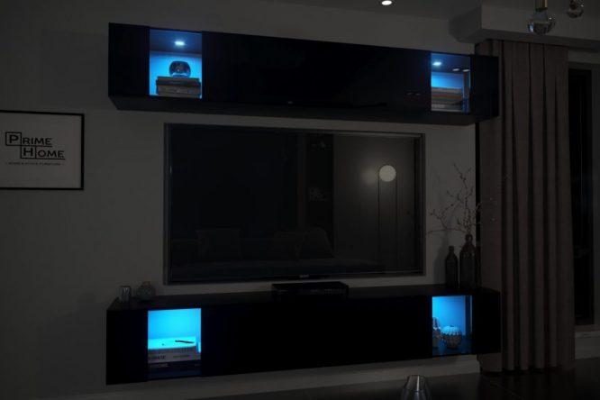 kedvencbutor.hu-exclusive 7 magasfényű fekete sötétben